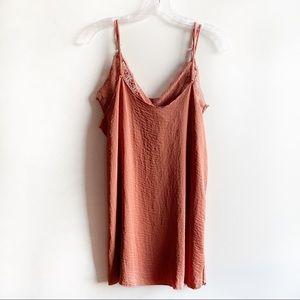 Kendall & Kylie slip dress burnt orange lace